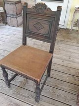Antique wood chair in Tomball, Texas