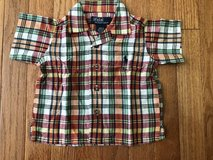 Boys Polo plaid button down shirt size 3-6 m in Joliet, Illinois