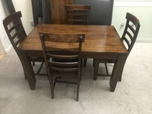 5pc Solidwood Dining Table Set with leaf in Joliet, Illinois