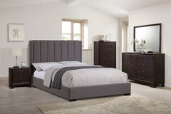 New! Queen or Blue King Grey Platform Bed FREE DELIVERY starting in Miramar, California