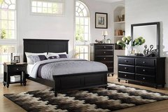 New Black Queen Wood Bed Frame- FREE DELIVERY in Miramar, California