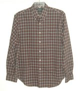 Ralph Lauren Classic Fit Non Iron Plaid Shirt Pocket 17 36 37 XL Red Green White in Yorkville, Illinois