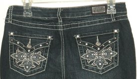 Earl Rhinestime Studded Embellished Boot Cut Denim Jeans Womens 6 Stretch in Morris, Illinois