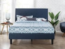 Upholstered Navy Detailed Platform Bed - Queen or King Size - New! in Naperville, Illinois