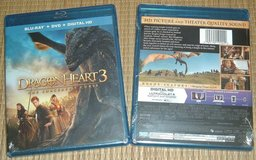 NEW 2 Disc Dragon Heart 3 The Sorcerers Curse BluRay DVD Digital HD Ultraviolet in Chicago, Illinois
