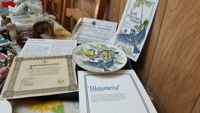 """""""Blue Titmouse"""". Band's Songbirds of Europe collection of limited-edition collector's plates in Bellaire, Texas"""