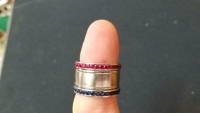 HOUSTON TEXANS Football Ladies 3pc Ring!  Stainless Steel w/ Rhinestones!   Size 8 in Bellaire, Texas