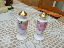 """Vintage 2-3"""" Porcelain Salt and Pepper Shakers w/ Pretty Pink Flower! in Bellaire, Texas"""