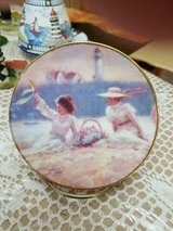 Small Ceramic Decorative Plate- Best Friends and Lighthouse in Bellaire, Texas