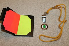 Soccer Referee Set - Penalty Cards, Whistle & Cord, Flipping Coin in Joliet, Illinois