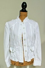 Peck & Peck Weekend Cotton Blend Jacket, Lots of Detail, Size Medium in Bolingbrook, Illinois