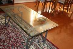 Glass and Metal Coffee Table in Kingwood, Texas