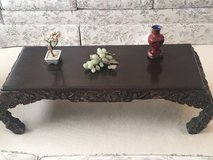 antique chinese decorative carved wood short coffee Table in Fort Belvoir, Virginia