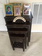 antique chinese carved nesting tables set of 4 in Fort Belvoir, Virginia