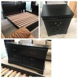 3pc Black King Size Sleigh Bedroom Set in Joliet, Illinois