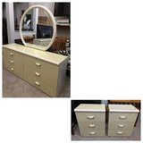 4pc Beige Lacquer Dresser and Nightstand Set in Joliet, Illinois