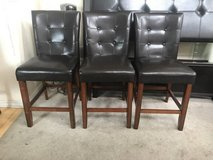 3 Brown Counter Height Chairs in Joliet, Illinois