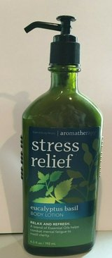 bath and body works aromatheraphy eicalyptus basil stress relief body lotion in Quantico, Virginia