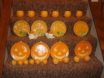 Handpainted Halloween Luncheon Plates & Cups in Plainfield, Illinois