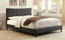 New! FULL or QUEEN Ennis GRAY Linen Padded Bed Frame FREE DELIVERY in Camp Pendleton, California