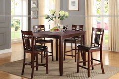 New! 5Pcs Cherry Wood Finish Dining Set FREE DELIVERY in Camp Pendleton, California