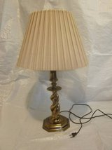 STIFFEL Brass Lamp Twisted Base with STIFFEL Shade Mid-Century Modern in Chicago, Illinois
