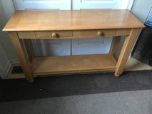 Lightwood Two Drawer Console/Hallway Table in Joliet, Illinois