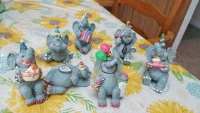 7 WMG 2006 Happy Birthday Elephant Party Sitters Really cute figurines. in Kingwood, Texas