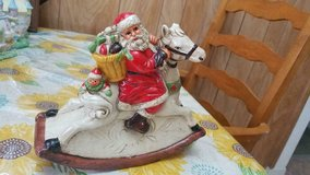 "7"" Ceramic Musical Santa Claus Figurine on Rocking Horse! in Kingwood, Texas"