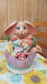 "10"" Ceramic Hand Painted Mama Rabbit and Her 3 Baby Bunnies in pockets! in Kingwood, Texas"
