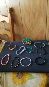 Mixed Lot of Beaded Stretchable Bracelets plus 1 Cross Bracelet! 10 pcs in Kingwood, Texas