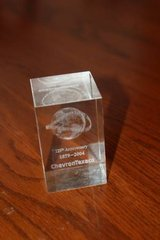 125th Anniversary Chevron Texaco~ 1879-2004 glass paper weight in Spring, Texas