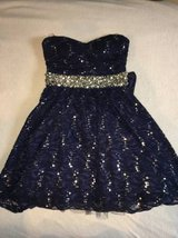 Navy Blue and Silver Strapless dress - size 3 in Chicago, Illinois