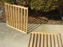 set of 2 wooden pet/child gates in Plainfield, Illinois