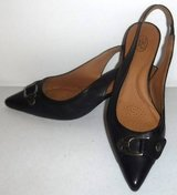 Sz 7M Joan & David Black Leather Sling Back Heels / Pumps ~EUC in Chicago, Illinois
