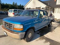 1994 FORD F150 blue truck with ladder rack  v8, automatic transmission in Fort Lewis, Washington