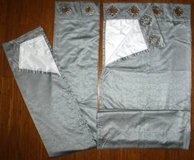 Set of 2 Gray / Silver Grommet Top Drapes ~ Curtain Panels in Bolingbrook, Illinois