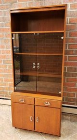 Wood China Hutch Cabinet Shelf in Chicago, Illinois