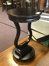 Petite Black Accent Table in Chicago, Illinois