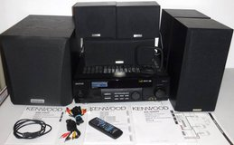 Kenwood Audio Video Stereo Surround System -Receiver Subwoofer 5 Speakers + in Joliet, Illinois