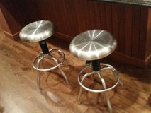 Bar Stools - Metal - Adjustable Height - Swivel in Chicago, Illinois