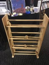 Solid Oak 4 Row Dowel Media Rack in Chicago, Illinois