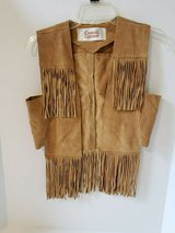 BROWN LEATHER FRINGE VEST SIZE MEDIUM in Naperville, Illinois