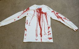 BLOOD SPLATTER LONG SLEEVE T-SHIRT * ADULT SMALL * ZOMBIE COSTUME SHIRT in Naperville, Illinois