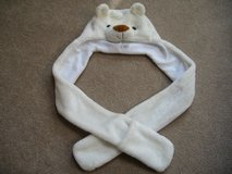HAT/SCARF & MITTENS * FURRY WHITE BEAR * VGC in Naperville, Illinois