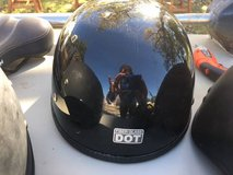 Motorcycle helmet black matte and shiny. in Camp Lejeune, North Carolina