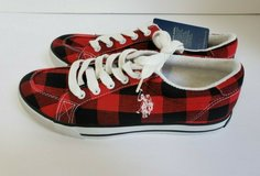 NWT WOMEN'S U.S POLO ASSOCIATION RED & BLACK PLAID GYM SHOES in Westmont, Illinois