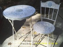 MOSAIC TABLE AND CHAIR IRON BASE in Westmont, Illinois