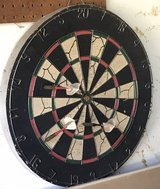 Old School Dart Board 3 Metal darts in Chicago, Illinois