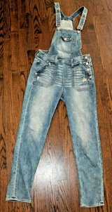 Stylish EXPRESS Denim Overalls, Fitted Hips & Legs, Slight Distress, Size 0 in Bolingbrook, Illinois